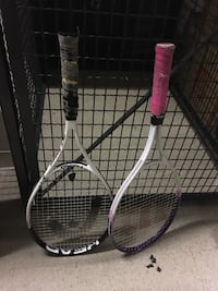white, black and pink tennis rackets McLean, 22102