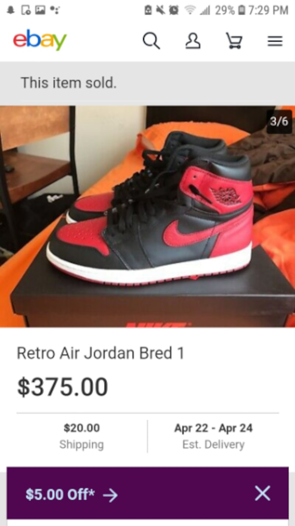 buy popular 4334a 97115 Bred 1s