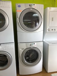 Whirlpool white stackable washer and dryer set  Woodbridge, 22191