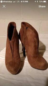Gaterina Brown suede boots Vaughan, L6A 3P3
