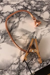 IKEA rose gold clamp light