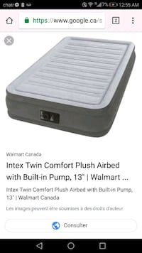 New airbed.. intex twin comfort plush  Vancouver, V5T 3B8
