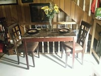Wooden table with 4 padded chairs Crestline, 92325