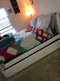white, full sized IKEA trundle bed (mattress included) Laurel, 20723
