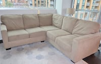Beige 2-Pc Sectional Couch VERY COMFY!! Arlington, 22201