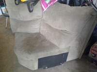 gray and black leather sofa chair Palmetto, 30268