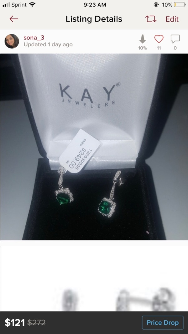 581b6dfdfaaee Kay jewelers lab created emerald earrings