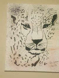 white and black tiger painting Madison, 53719
