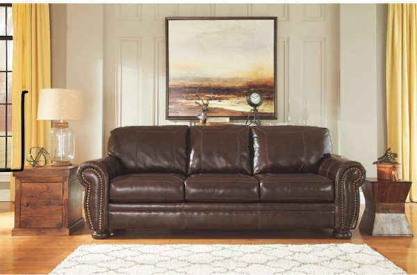 Begagnad Ashley Furniture 3 Seater Leather Sleeper Sofa With Queen Size Bed Till Salu I Dublin Letgo