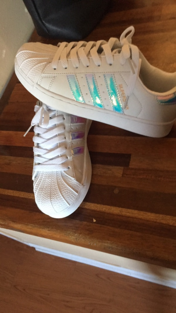 bdec5a0e Used Women's dead stock size 6.5 chrome Adidas Superstar for sale in Upper  Uwchlan - letgo
