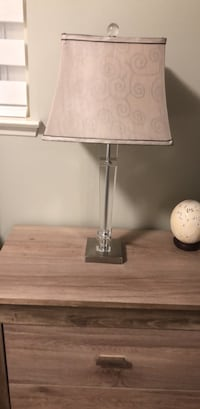 White and gray table lamp Brampton, L6W 2S4