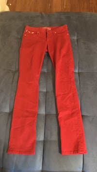 Red and black denim jeans Sunny Isles Beach, 33160