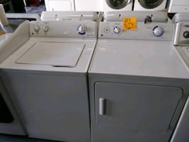 GE TOP LOAD WASHER AND ELECTRIC DRYER SET