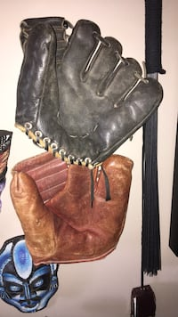 Antique and vintage baseball gloves. Calgary, T2Y