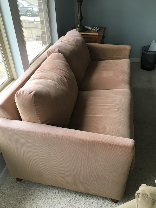 Incredible Used Sofa Bed Caramel Tan Corduroy For Sale In Chicago Letgo Creativecarmelina Interior Chair Design Creativecarmelinacom