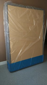 Double size Box Spring and Bed Frame with wheels TORONTO
