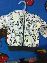 white and green floral zip-up jacket Kingsport