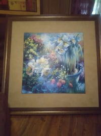 blue and yellow flowers painting Newnan, 30263