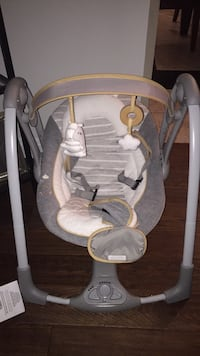 baby's gray and white swing chair Toronto, M3N 1E6