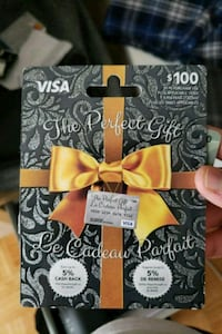100$ Gift Card Mississauga, L4W 3H5