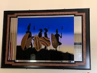 African art glass picture (large)