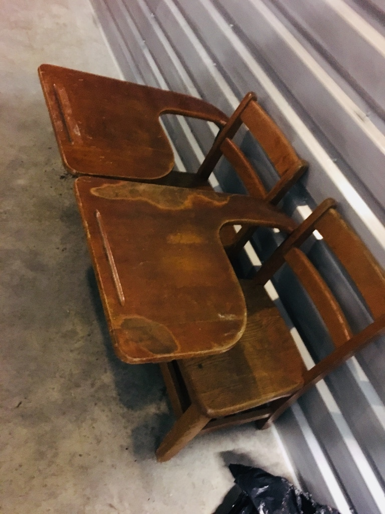 used set 2 vintage school desks for sale in asheville letgo rh tr letgo com