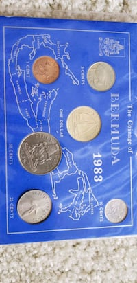 1983 uncerculated bermuda limited edition coin set