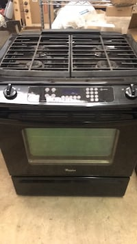 Whirlpool Black 4-burner gas slide in range oven San Antonio, 78238