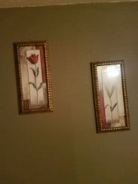 two red petaled flower paintings Hollister, 65672