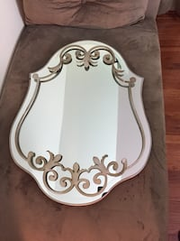 Solid decorative mirror with rustic metal work Rockville, 20853