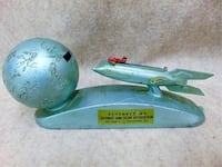 Rocket Bank. 1950s Strato Spaceship with key. Works. Catharpin