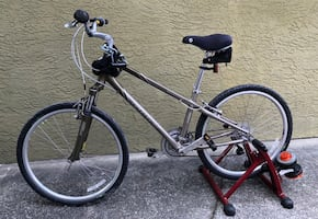Giant bike with trainer