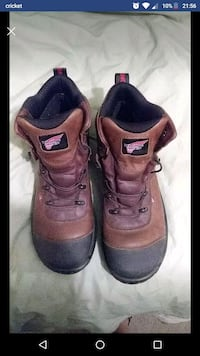 pair of brown leather Red Wing work boots Wichita, 67217