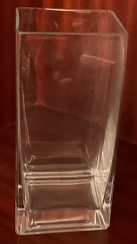 Rectangular Glass Vase(s) – 2 Available