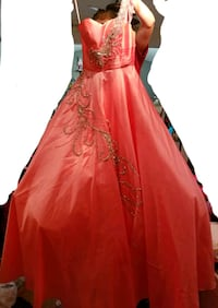 Size 2 Prom Dress Coral color