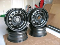 four black bullet hole car wheels Hamilton, L8W 4A3