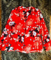 Red Floral Button Up Toronto, M2J 5A7