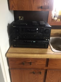 Black  stereo component with remote Guelph, N1E 7C9