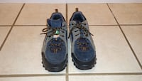 pair of blue-and-black running shoes VANCOUVER