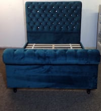 Chesterfield Sleigh Style in Soft Plush velvet Beds frame, Diamonds, ottoman box Dewsbury, WF13 3HE