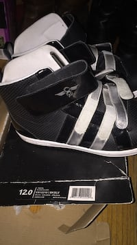 pair of black Adidas NMD shoes with box Providence, 02909