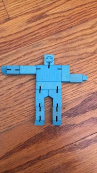 Blue wooden person