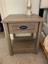 Set of two Brown wooden nightstands Arlington, 22201