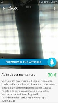 vestito nero da donna screenshoty