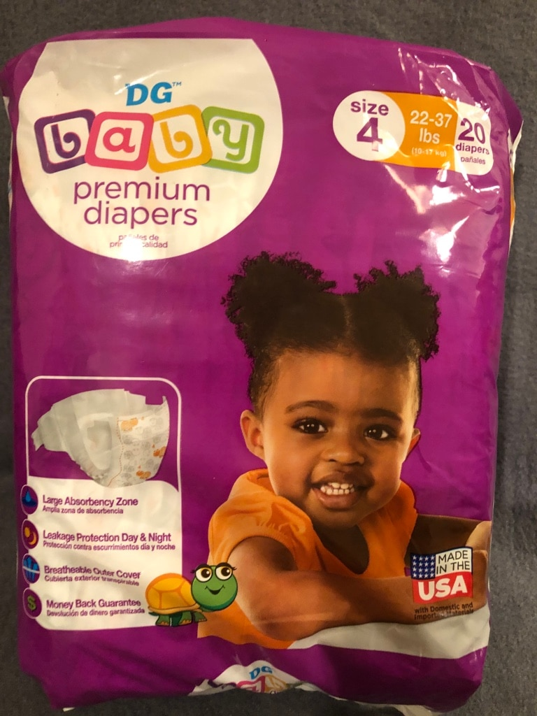 Photo Dollar General Premium Diapers Size 4