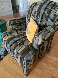 brown and gray fabric sofa chair Wilmington, 28411