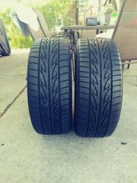 two black car wheel tires Hickory Hills, 60457