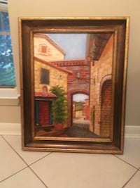 Brown wooden framed painting  Friendswood, 77546