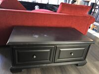 Coffee Table, Solid Wood, 2 passthrough Drawers / Colour:  Black Pickering, L1V 2S3