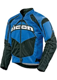 ICON Contra Textile Motorcycle Jacket (Blue) (4XL)